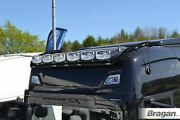 To Fit New Gen Scania 2017+ R And S Series High Roof Bar Black + Leds + Led Bar