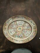 Large And Important Antique Chinese Export Porcelain Rose Medallion Oval ...