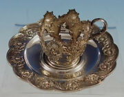 Chrysanthemum By And Co. Sterling Silver Demitasse Cup W/saucer 2952