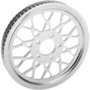 Drag Specialties Chrome Mesh Rear 70t 1-1/8 Wheel Pulley Harley Softail 00-06
