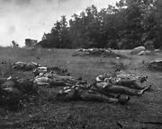 New Civil War Photo Dead Soldiers At Rose Woods Battle Of Gettysburg - 6 Sizes