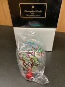 Christopher Radko 1996 Four Calling Birds Ornament In Original Gift Box Numbered