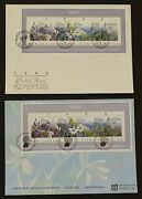 New Zealand Scott 986 First Day Covers Orchids World Stamp Expo Flora
