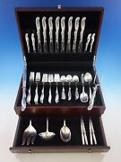 Silver Melody By International Sterling Silver Flatware Set For 8 Service 53 Pcs