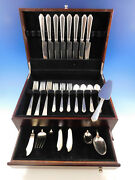 William And Mary By Lunt Sterling Silver Flatware Set For 8 Service 46 Pcs Dinner