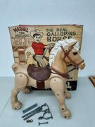 Vintage 1967 Marx Marvel The Mustang Ride On Galloping Horse In Original Box