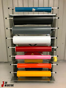 Vinyl Sticker Window Tint Roll Making Car Wrapping Rack Trolley Graphic Stickers