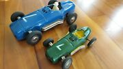 1960 And039s 2 Sizes Marx Linemar Mercedes Friction Race Cars Japan Silver Arrow