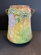 Vintage Roseville Pottery Wisteria, 633-8 Rare No Issues Desirable Colors