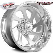 American Force Shiv Ck05 Concave Polished 22x14 Truck Wheel 8 Lug Set Of 4