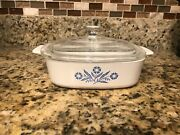 Rare Vintage Microwaveable Flower Corning Ware In Excellent Condition.