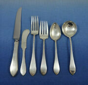 Old Colony By Watson Sterling Silver Flatware Set Service 47 Pieces Pointed End