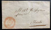 1838 Pinerolo Torino Division Vintage Letter Sheet Cover To Marcello