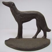 Russian Wolfhound C1929 Connecticut Foundry Cast Iron Borzoi Bookend Doorstop
