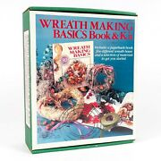 Vintage Wreath Making Basics Book And Kit Wreath Bases Moss ... New Old Stock