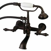 Aqua Vintage Ae551t5 Clawfoot Tub Faucet With Hand Shower Oil Rubbed Bronze