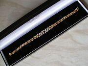 18ct Yellow Gold Diamond Set Bracelet Made In Italy Brand New In Box And039qualityand039