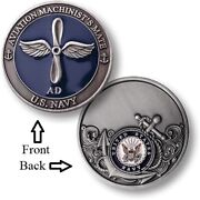 Ad = Aviation Machinistand039s Mate Airdale Us Navy Airman Challenge Coins