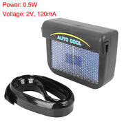 Solar Power Fan Car Window Cooler Air Vent Cooling Exhaust Conditioner Radiator