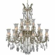 Large Foyer/entryway Empress Crystal Chandelier 24 Light Ceiling Fixture Lamp