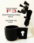 2019 Can Am Spyder F3 Cup/phone Holder Assembly