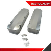 Suit Bbc Chevy 454 Tall Valve Cover Clear Anodized Aluminum Fabricated