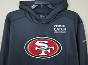 Nike San Franciso 49ers Crucial Catch Hoodie Grey Team Issued Rare Size Xl