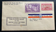 1936 Manila Philippines Airmail Cover To Amoy China Via British Flying Boat