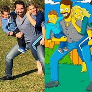 Personalized Simpsons Family Custom Portrait Picture Drawing Great Gift