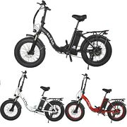 20folding Electric Bike For Adults 48v 13ah 750w Fat Tire City Snow Mtb Bicycle