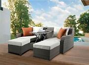 Patio Sectional And 2 Ottomans 2 Pillows