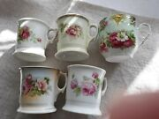 Antique Shaving Mugs - Beautiful Collection Of 5 - Country Decor, Shabby Chic