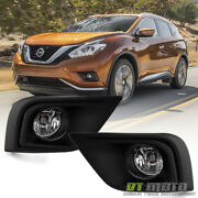 Fits 2015-2018 Murano Bumper Fog Lights Driving Lamps+switch 15-18 Left+right