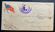 1919 Us Army Po Forces In Europe Censored Cover To Needham Ma Usa Soldier Mail