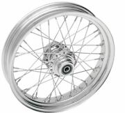 Drag Specialties 40 Spoke Front Wheel Chrome 21x2.15 W/out Abs 0203-0399