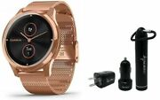 Garmin Vivomove 3 Luxe 18k Rose Gold Hybrid Smartwatch And Wearable4u Power Pack