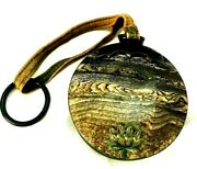 Vintage Celluloid 1910-20 Compact Carry All Grained Celluloid Water Lily