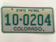 1980and039s Colorado State Patrol Police Trooper License Plate Used 1983 To 1989
