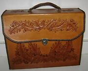 Handmade Real Leather Briefcase Satchel Attache Suitcase 15 X 12 X 4 New