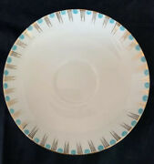 Rare E Hughes And Co Staffordshire England China Turquoise Dot And Gold Lines