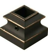 10 Creative Stair Parts Oil-rubbed Bronze Wrought Iron Baluster Shoe
