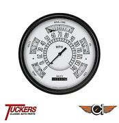 66 67 68 69 70 77 Ford Bronco All-in-one White Gauges Classic Instruments Fb66w