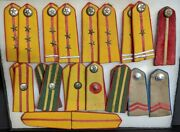Rare Vc/nva Epaulet Shoulder Boards Collection Different Ranks + Music Or Band