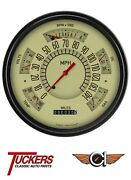 1961-66 Ford F-100 62 63 64 65 Tan Gauge Package Classic Instruments Ft61t