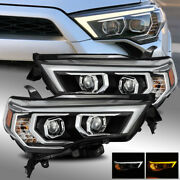 Fit 14-20 4runner Switchback Drl/sequential Signal Projector Headlights Black