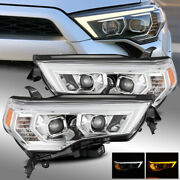Fit 14-20 4runner Switchback Drl/sequential Signal Projector Headlights Chrome