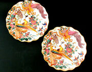 Olde Avesbury A73 Royal Crown Derby - Two Embossed Sheffield Dessert Plates