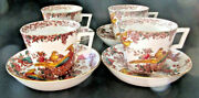 Olde Avesbury A73 Royal Crown Derby - Four Over-sized Cups And Saucers