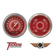 1947-53 Chevy Gmc Truck Gauges V8 Red Steelie Classic Instruments Ct47v8rs52