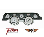 1967-68 Ford Mustang Classic White Series Gauge Pkg Classic Instruments Mu67cw